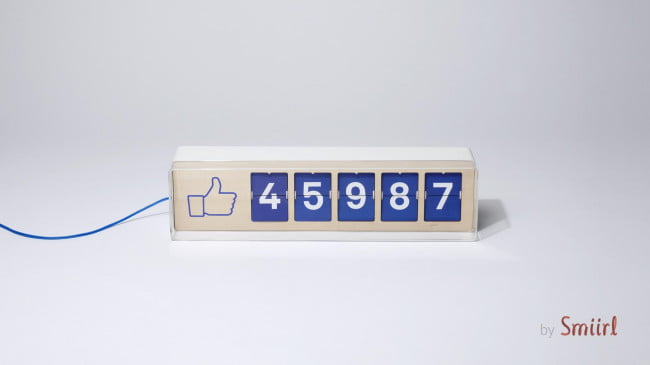 Fliike is a machine that shows the real world your Facebook 'likes' in – naturally – real time