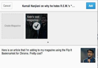 Flip It Bookmarklet Flipboard