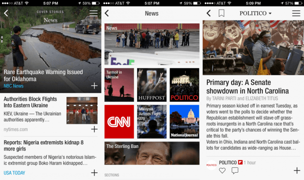 Flipboard App Screens