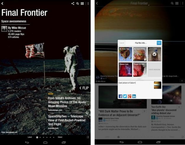 flipboard 2.0 for Android - magazines
