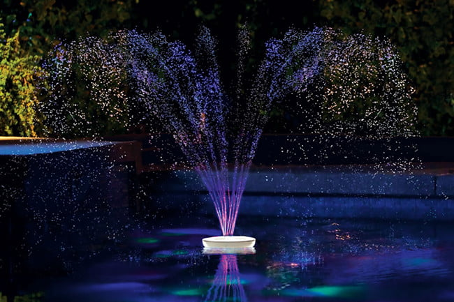 Floating Lighted Pool Fountain Thumb