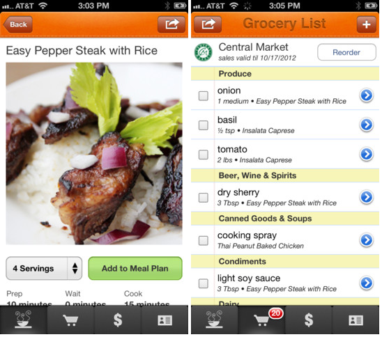 food on the table app