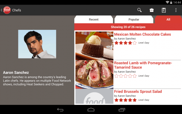 Food_Network_Android_tablet_app_screenshot