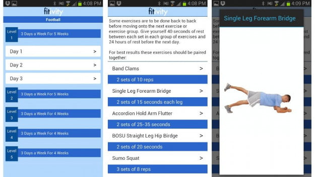 Football-Body-Workout-Program-Android-apps-screenshot