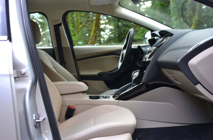 ford focus electric review front interior