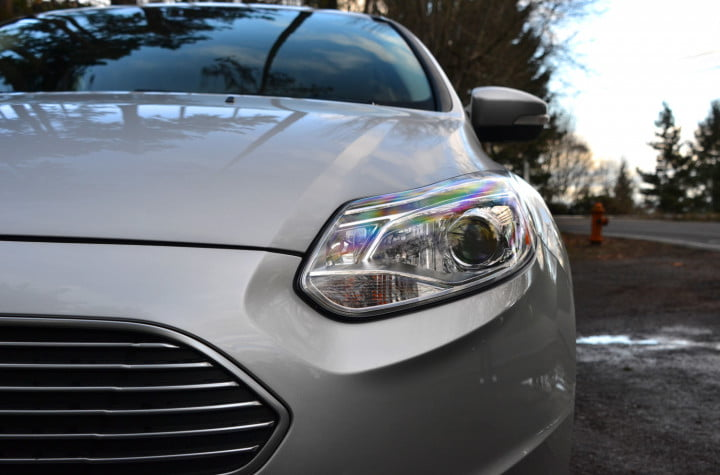 ford focus electric review headlight
