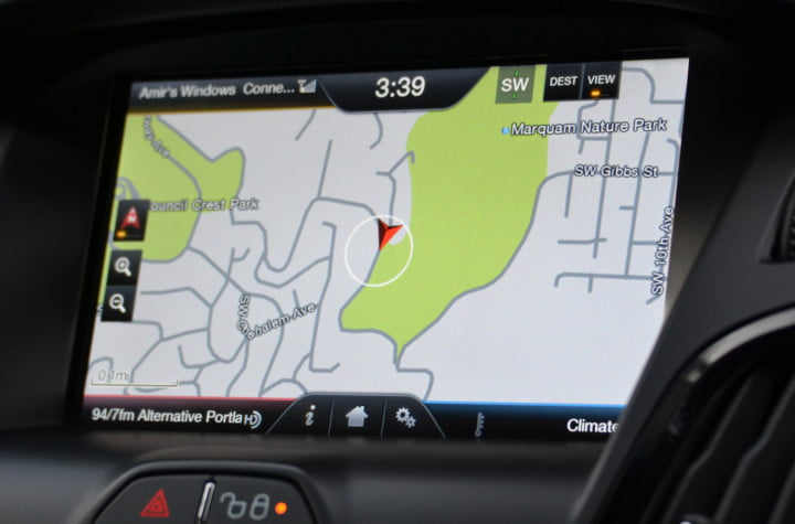 ford focus electric review navigation map