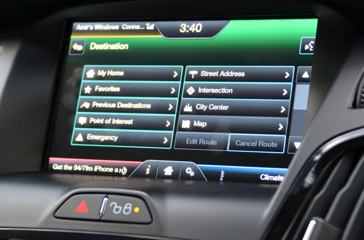 ford focus electric review navigation