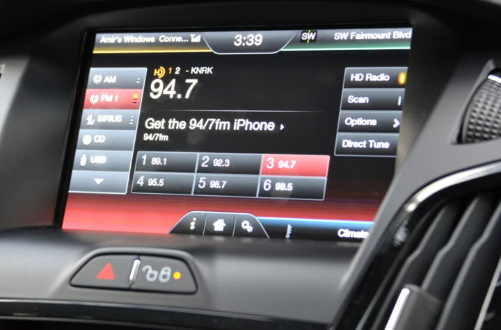 ford focus electric review radio settings