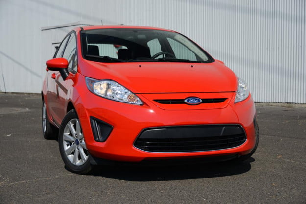 Ford Fiesta 2012 review exterior front angle compact car review