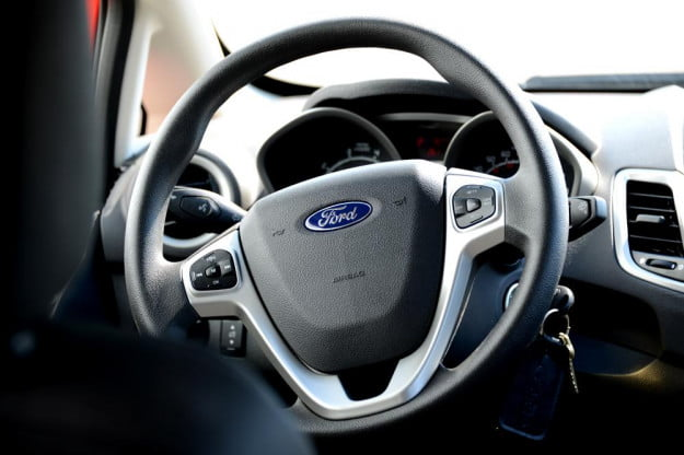 Ford Fiesta 2012 review interior steering wheel compact car