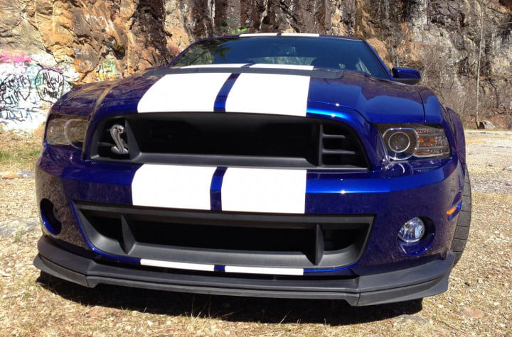ford shelby mustang gt review front