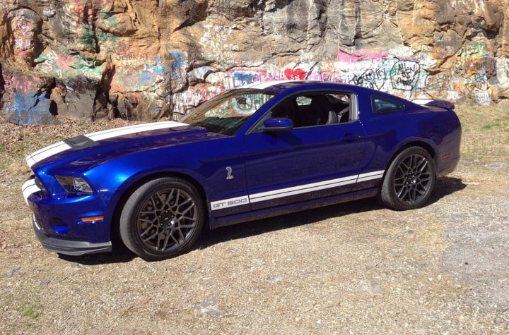 ford shelby mustang gt review left side