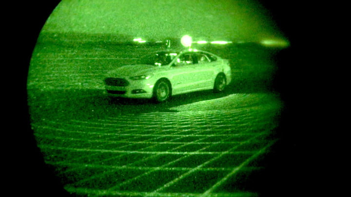 ford autonomous car drives at night with no lights project nightonomy vehicle testing in the dark  fusion
