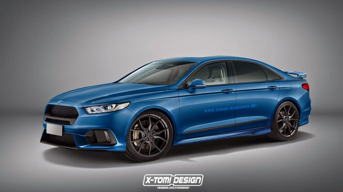 ford taurus get the rs treatment in unofficial rendering