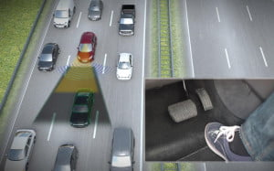 Ford Traffic Jam Assist simulation