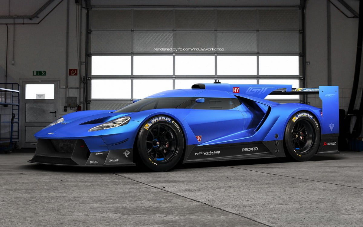 rendering could preview ford gt le mans car