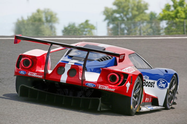 ford gt racecar testing video specs performance lm gte pro car