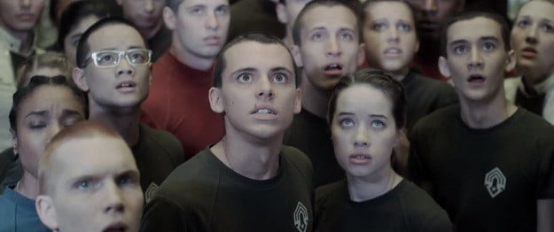 Forward unto Dawn's Tom Green and Anna Popplewell (center)
