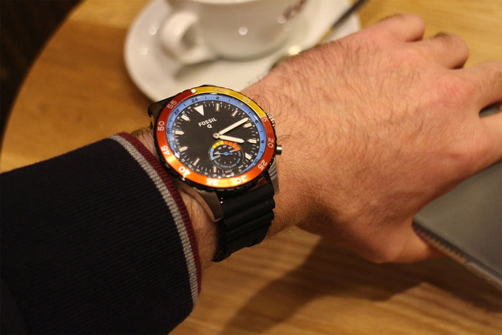 fossil q crewmaster hybrid review wrist