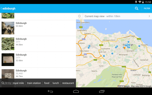 Foursquare_Android_tablet_app_screenshot