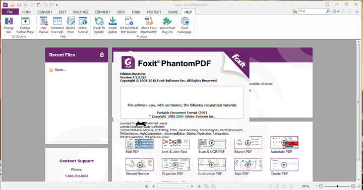Foxit-PhantomPDF-Business-7.1.3.0320+keys