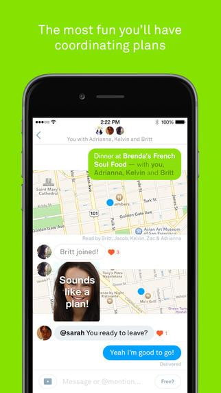 free app connects friends for ios