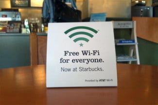 free wifi starbucks