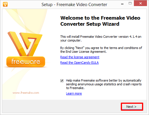 Freemake Video Converter Setup