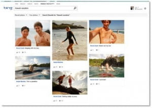 Friends Photos feature on bing