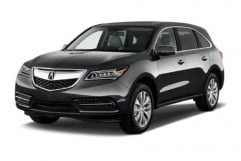 acura mdx review front driver side view