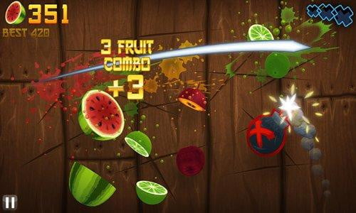fruit ninja kindle fire app game