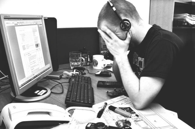 this is how youre wasting time at work frustrated worker by phil gradwell