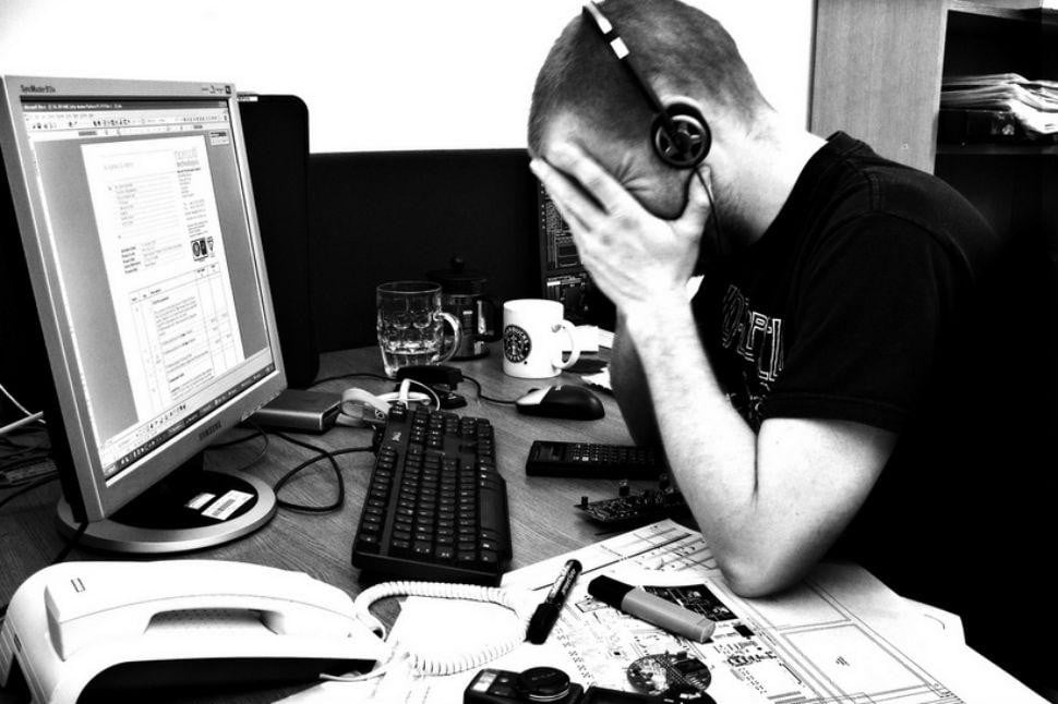 frustrated worker by Phil Gradwell
