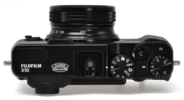 Fujifilm-X10-review-top-controls