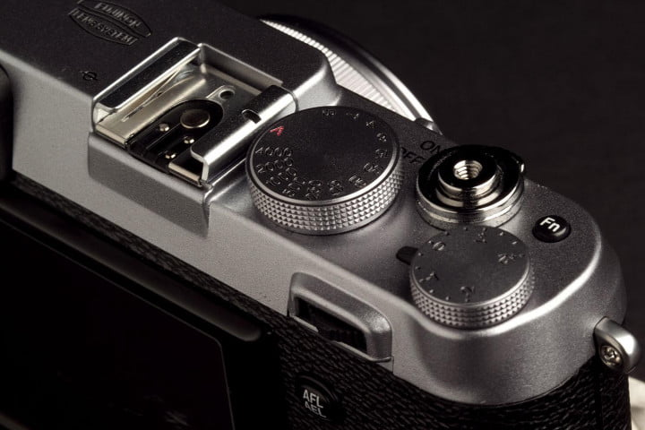 fujifilm x  s review camera buttons left angle