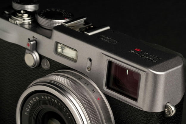 Fujifilm X100S Camera top angle macro