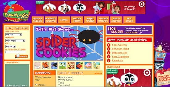 Funology Best Website for Kids