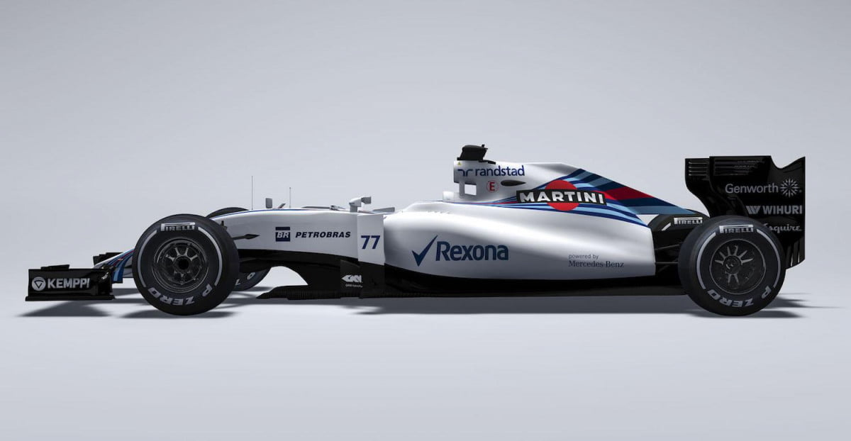 williams martini racing reveals the mercedes powered fw