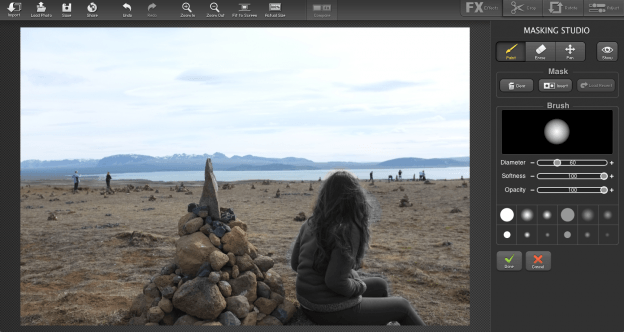 FX Photo Studio Pro masking tool