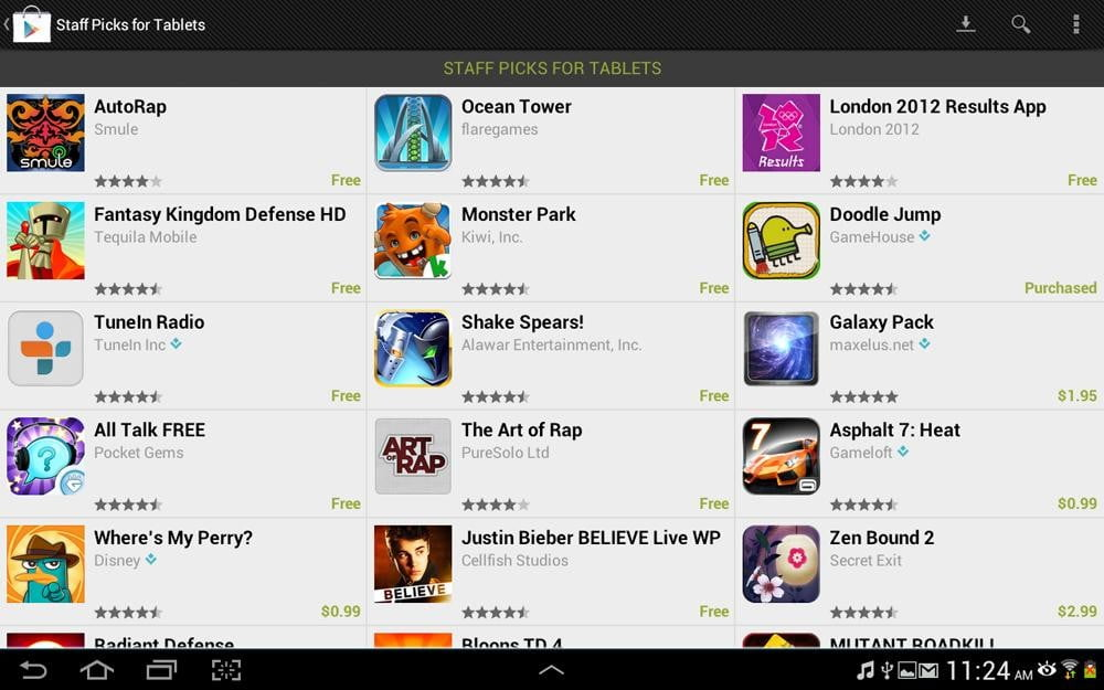 galaxy note 10.1 tablet review google play screenshot samsung tablet