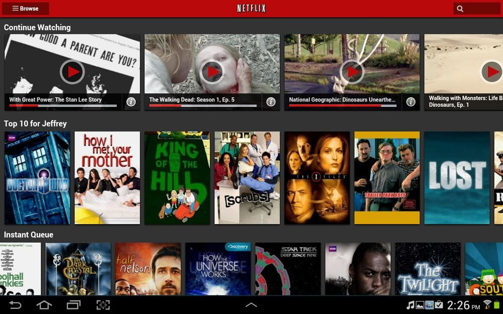 galaxy note 10.1 tablet review netflix screenshot samsung tablet