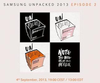Galaxy Note 3 Unpacked Invite
