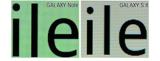 Galaxy S II Galaxy Note Screens