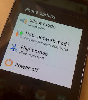 Galaxy S II Power Off