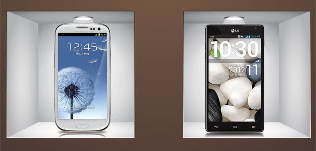 Galaxy S3 vs Optimus G spec comparison