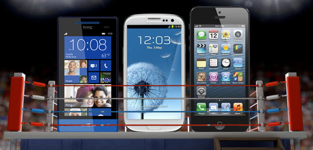 Galaxy S3 vs Windows Phone 8X vs iPhone 5 spec comparison