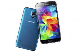 Galaxy S5 Electric Blue Front