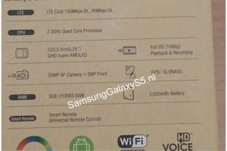Galaxy S5 Leaked Packaging