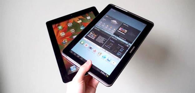 galaxy tab v ipad samsung apple tablet